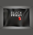 black friday sale design on black fabric vector image vector image