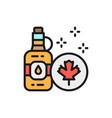 bottle maple syrup flat color line icon vector image vector image