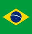 brazilian flag flat layout vector image