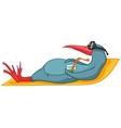cartoon character penguin vector image