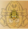 chicken samurai mascot logo vector image vector image