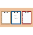 clipboards with blank pages vector image vector image