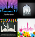 collection of attractive design of ramadan kareem vector image vector image