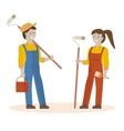 couple house painters vector image vector image