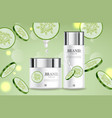 cucumber cream collection realistic vector image vector image