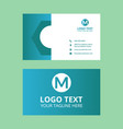 cyan awesome fine business card vector image vector image