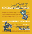desert motorcycle endurance rally racing vector image vector image