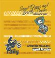 desert motorcycle endurance rally racing vector image vector image