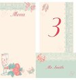 Design in the retro-style menu table number vector image