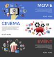 digital black blue cinema vector image