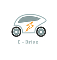 eco car icon design concept vector image vector image