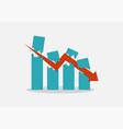 economic crash concept vector image