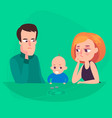 family saving money a man and a woman are vector image vector image