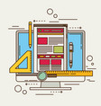 flat of web design and development concepts vector image vector image