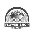 flower shop vintage isolated label vector image vector image