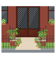front door vector image