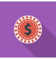 Gambling chips icon vector image vector image