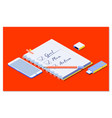goalplanaction text on notepad with office vector image