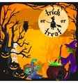 Halloween background Horror forest with woods