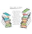 hand drawn books vector image vector image