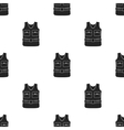 Hunting vest icon in black style isolated on white vector image
