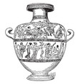 hydria is a type of greek pottery vintage vector image vector image