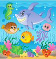 image with undersea theme 3 vector image