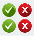 isolated check mark icons vector image