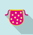 kid apron icon flat style vector image vector image