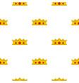 king crown pattern flat vector image vector image