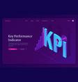 kpi key performance indicators banner vector image