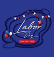 labor day sale promotion advertising banner blue vector image vector image