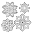 Lacy ethnic ornament in a circle vector image