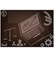 laptop and scales of justice vector image