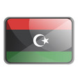 libya flag on white background vector image vector image