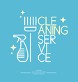 Logo Cleaning Service vector image vector image