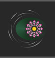 lotus flower with a green leaf on water with vector image