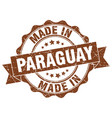 made in paraguay round seal vector image vector image