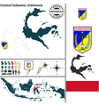 Map of Central Sulawesi vector image vector image