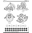mathematical activity coloring page vector image vector image