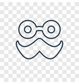 moustache concept linear icon isolated on vector image