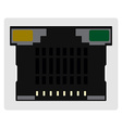 Network ethernet port vector image vector image