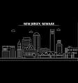 newark silhouette skyline usa - newark vector image vector image