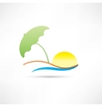 relaxing on the beach abstraction icon vector image