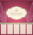 retro princess invitation template vector image vector image