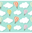 Retro Seamless Pattern with Air Balloons vector image vector image