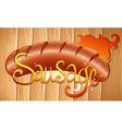 Sausage vector image
