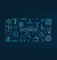 science outline blue horizontal vector image