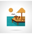 Sea leisure flat color icon vector image