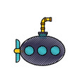 sea submarine isolated icon vector image vector image